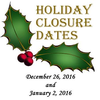 FDOH Holiday Closure Dates